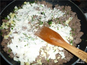 Пирог с мясом из слоеного бездрожжевого теста - фото шаг 3