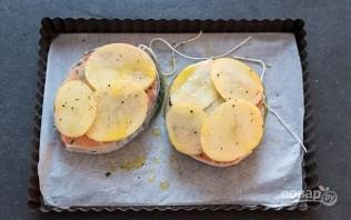 Лосось, запеченный с картофелем - фото шаг 3
