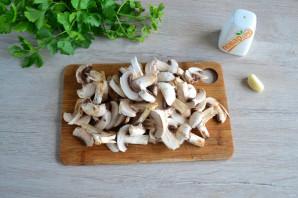 Салат с яичными блинчиками и шампиньонами - фото шаг 6