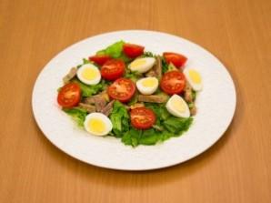 Cалат из говядины с помидорами - фото шаг 7