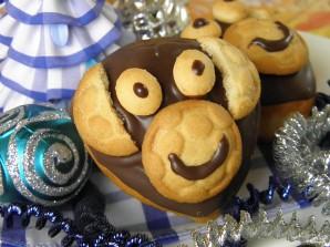 Кексы в виде обезьяны - фото шаг 10