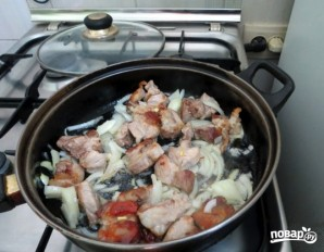 Опята со свининой - фото шаг 2