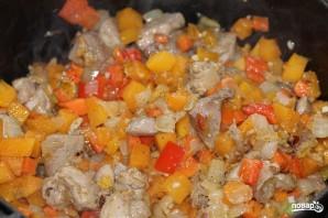 Овощи, тушенные с мясом - фото шаг 5
