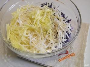 Салат из черной редьки - фото шаг 6