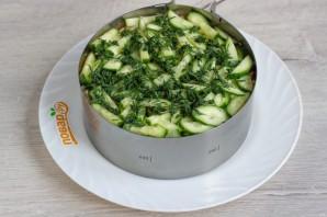 Слоеный салат «Лесная загадка» - фото шаг 9