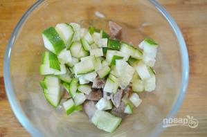 Салат с языком в верринах - фото шаг 2