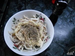 Салат из кальмаров и оливок - фото шаг 4