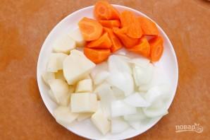 Суп с чечевицей и копченостями - фото шаг 3