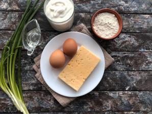 Лепешки с сыром на сметане - фото шаг 1