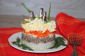 Салат из риса и шпрот - фото шаг 10