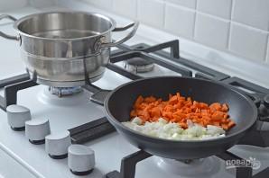 Сырный крем-суп с креветками - фото шаг 2
