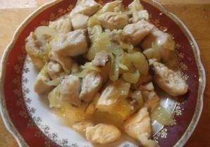 Шаурма с грибами и курицей - фото шаг 4
