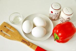 Яичница в болгарском перце - фото шаг 1