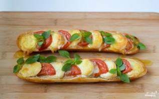 Запеченный бутерброд с сыром и помидорами - фото шаг 3