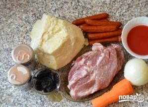 Бигус с мясом из свежей капусты - фото шаг 1
