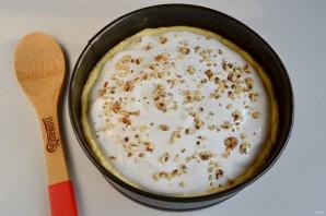 Лимонное пирожное с грецкими орехами, изюмом и безе - фото шаг 10