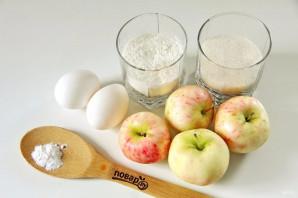 Ленивая шарлотка с яблоками - фото шаг 1