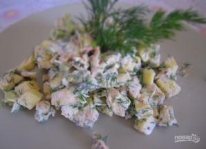 Салат из авокадо и курицы - фото шаг 4
