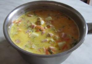 Сырный суп в хлебе - фото шаг 3