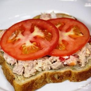 Сэндвичи с салатом из тунца - фото шаг 10