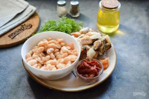 Фасоль с морепродуктами - фото шаг 1