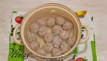 Суп (лапша с фрикадельками) - фото шаг 3