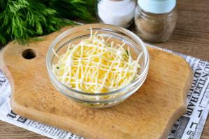 Слоеный салат с фасолью - фото шаг 6