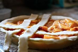 Персиковый пирог из песочного теста - фото шаг 13