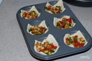 Слоеные корзиночки с овощами - фото шаг 4
