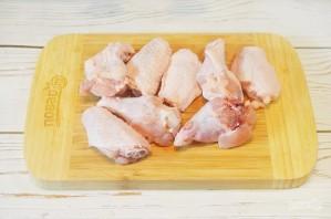 Куриные крылышки в остром томатно-яблочном маринаде - фото шаг 1