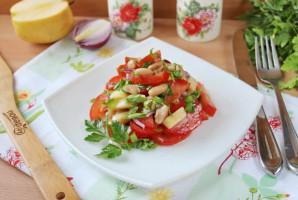 Салат с фасолью и яблоками - фото шаг 9
