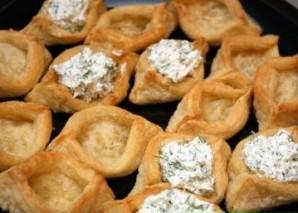Тарталетки с сыром и чесноком - фото шаг 5