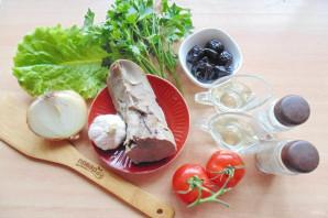 Салат с языком и черносливом - фото шаг 1