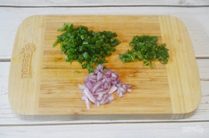 Оладьи из батата с творогом и зеленью - фото шаг 2
