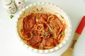 Шашлык из свинины с томатной пастой - фото шаг 4