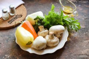 Салат с кинзой и грибами - фото шаг 1
