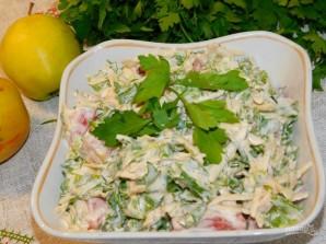 Яблочный салат с зеленью - фото шаг 5