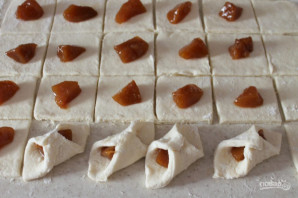 Творожное печенье с фруктами - фото шаг 8