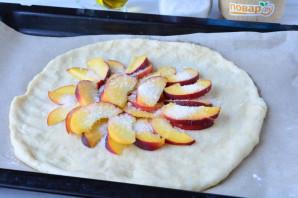 Постный пирог с персиками - фото шаг 8