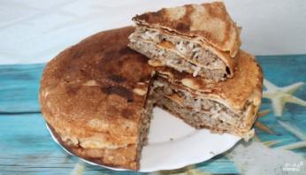 Блинный пирог с мясом  - фото шаг 4