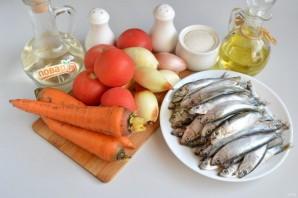 Килька с овощами на зиму - фото шаг 1