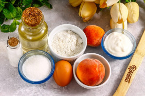 Корзиночки с персиками - фото шаг 1