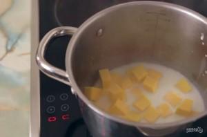 Каша из тыквы на молоке (без крупы) - фото шаг 2