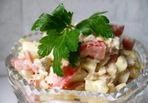 Салат с отварной свининой - фото шаг 8