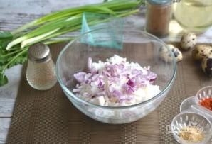 Теплый салат из морепродуктов - фото шаг 4