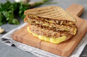 Сэндвич с грибами и сыром - фото шаг 6