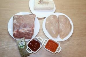 Мясо, запечённое гармошкой - фото шаг 1