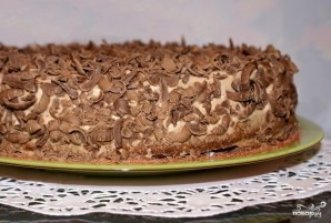 Шоколадно-сырный торт - фото шаг 6