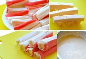 Крабовые палочки в кляре с сыром - фото шаг 2