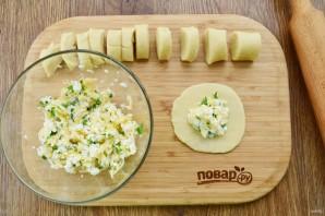 "Пирожки с сыром и зеленью ""Лодочки"" - фото шаг 4"
